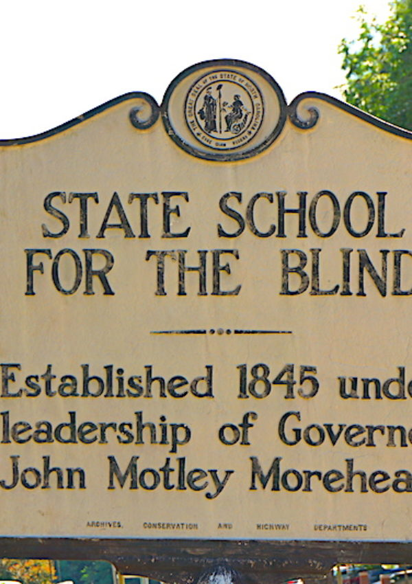 photo of state school for the blind sign